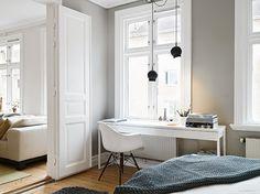 White and grey Gothenburg home tour