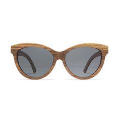 ee16b4200f7 Woodzee Kourtney Cat Eye Rose Wood Sunglasses