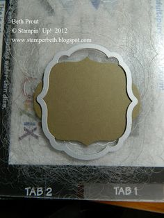 Stampin' Up! Label Framelit new size idea  I need to consider possibilities & experimenting with other dies--nifty idea.