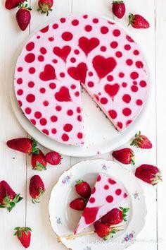 Herziger Erdbeer Joghurt Kuchen