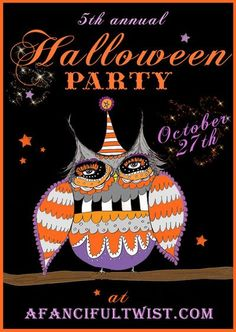 Halloween Party Flyer - if you blog, you might want to participate/attend - she throws the BEST blog parties EVER!