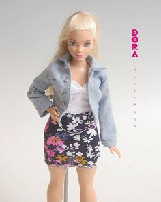 Barbie clothes/curvy barbie 3 piece barbie by DoraCollection