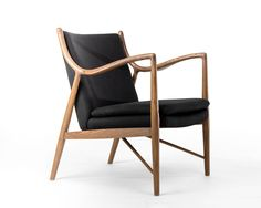 Model 45 Easy Chair $600 black fabric as shown