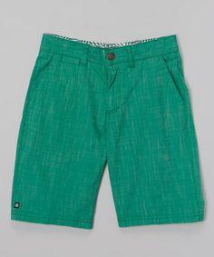 Another great find on #zulily! Green Walk Shorts - Toddler & Boys #zulilyfinds
