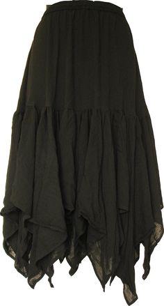 Amazon.com: BARES Victorian Renaissance Skirt One Size Black: Clothing