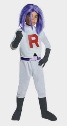 Pokmon James Team Rocket Halloween Costume Child Large - Walmart