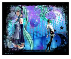 """""""Hatsune Miku"""" by grell-loves-bassy ❤ liked on Polyvore featuring art"""