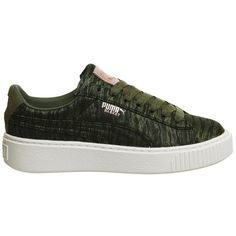Basket Platform Trainers by Puma Supplied by Office ( 91) ❤ liked on  Polyvore featuring 96e680bb5