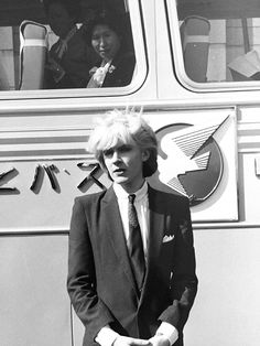 David Sylvian of Japan. Glamorous af, and the woman on the bus knows it.