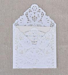 Lace envelope