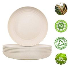 Pack]E-Co Friendly Dinner Plates Set of 6 Toddler Plates Nature Color Non Toxic & Safe Eco-Friendly Tableware for Baby Kids Toddler Dishes & Dinnerware Microwave Oven Dishwasher Safe Toddler Plates, Baby Plates, Kids Plates, Dinner Plate Sets, Dinner Plates, Melamine Dinnerware Sets, Tableware, Best Dishwasher, Eco Store