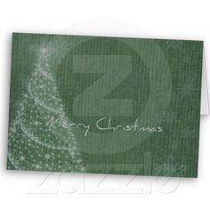 Christmas Tree and Snowflakes Greeting Card