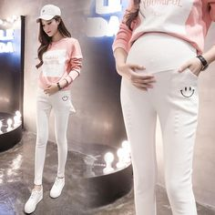 e18500408 Shop now Coupon  Denim Maternity Pants  trendalert  instagood  outfitpost   styleoftheday