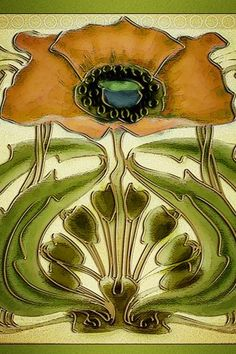 Art Nouveau Tile Wallpaper | Flickr - Photo Sharing!