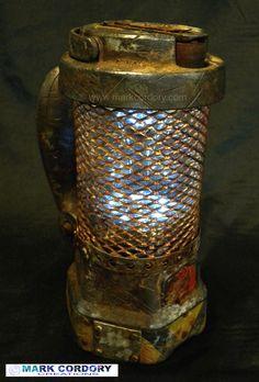 Post Apocalyptic dynamo lantern. Mark Cordory Creations www.markcordory.com