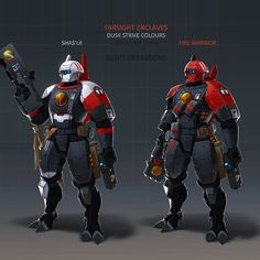 Warhammer Paint, Warhammer 40k Art, Warhammer Models, Warhammer 40k Miniatures, Salamanders Space Marines, Tau Army, Character Art, Character Design, Tau Empire