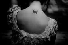 Butterfly tattoo...delicate and so pretty