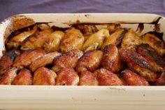Kyllingvinger og tre forskjellige marinader