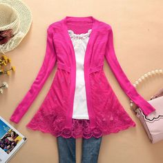 Aliexpress.com : Buy Free shipping 2013 new arrival woman sweater thin outerwear cardigan cutout sweater lace PLUS SIZE cardigan knitted coat from Reliable sweater suppliers on Shanghai YIJIE  Fashion Co., Ltd. $12.88