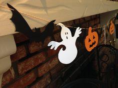 Halloween Garland ~ Bats Ghost Pumpkins ~ Banners ~ Halloween Banner ~ Bats Garland ~ Ghost Garland ~ Pumpkin Garland on Etsy, $8.25