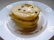 American style blueberry pancakes