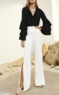 Valencia Ruffled Sleeve Top by ALEXIS for Preorder on Moda Operandi