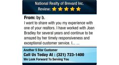 I want to share with you my experience with one of your realtors. I have worked with Joan...