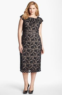 ABS by Allen Schwartz Lace Pencil Dress --- I need a fancy event to wear this fancy dress to!