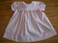 Vintage Toddler Infant Baby Girl Pink Linen Like Dress- Clothes Clothing -  Birthday- Summer Top- Photo Prop- Wedding on Etsy, $13.50