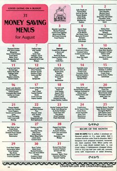 Retro dinner ideas from May 1964 | Free printable ...