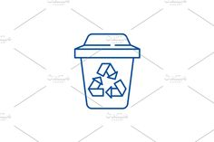 Vector Website, Container Design, Line Icon, Sorting, Concept, Illustration, Illustrations