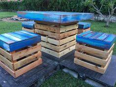 reclaimed-pallets-dinning-set
