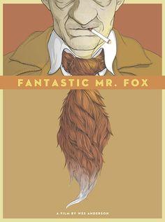 "Fantastic mr Fox, directed by Wes Anderson. Poster by Randy Ortiz. ""We got the tail, but we missed the fox. Zoro, Fantastic Fox, Wes Anderson Movies, Fox Movies, Spoke Art, Mr Fox, Alternative Movie Posters, Fan Art, Geek Art"