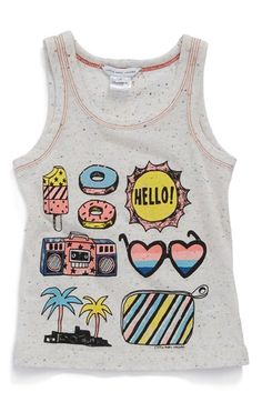 LITTLE MARC JACOBS 'Beach Supplies' Graphic Tank (Toddler Girls, Little Girls & Big Girls) available at #Nordstrom