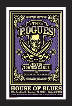 The Pogues by Uncle Charlie Rock Posters, Music Posters, Concert Posters, The Pogues, Music Flyer, Concerts, Photo Art, Blues, Punk