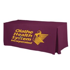 Polyester Screen Printed Table Cover | This item requires a custom estimate. Please call us at 1 (800) 980-6871 or head over to our Request Quote page. Thanks!