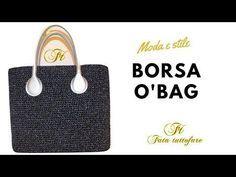 TUTORIAL: Borsa in cordino lanato Stella Alpina/ crochet bag ***lafatatuttofare**** - YouTube