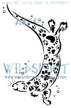 Paw Print Otter Design by ~WildSpiritWolf on deviantART