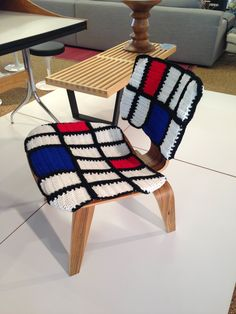 Ever heard of yarn bombing? DWR Scottsdale challenged a representative from Jessica Knits to yarn bomb an Eames LCW. What do you think?