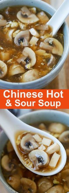 Hot and Sour Soup – BEST and EASIEST Chinese hot and sour soup recipe ever! Simple ingredients, takes 15 mins and a zillion times better than takeout (Asian Soup Recipes) Sushi Comida, Asian Recipes, Healthy Recipes, Simple Soup Recipes, Simple Chinese Recipes, Hot Soup Recipes, Chinese Food Recipes, Healthy Chinese, Best Chinese Food
