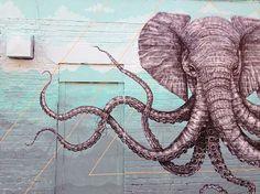 Alexis Diaz - Painted Mural