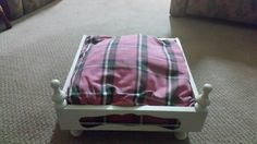 Dog bed  // pet bed // tartan // westies // scotties // custom made dog bed // Scottish // dog bedding  // cat bed // by BornAgainBargainsCo on Etsy