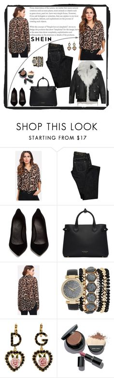 """""""Pocket Patch Curved Hem Leopard Print Shirt"""" by manuel-s ❤ liked on Polyvore featuring Dsquared2, Maison Margiela, Burberry, Jessica Carlyle, Dolce&Gabbana and Giorgio Armani"""