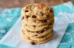Infused with a hint of peanut butter, these Chewy Peanut Butter Chocolate Chip Cookies are crispy on the edges and chewy on the inside—and super addicting!