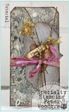Tammy Tutterow | Without Touch Art | Distress Stain Stamping on Specialty Stamping Paper