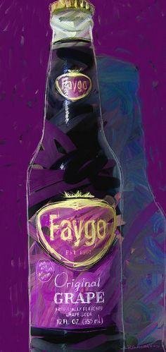 Faygo strange and wonderful Original Grape flavor. Pop art.