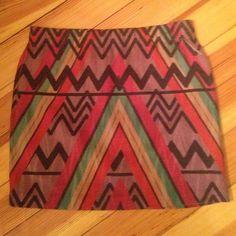 Aztec cotton mini skirt Aztec cotton mini skirt Skirts Mini