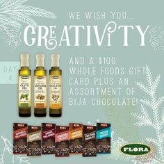 For Day 4 of our annual #12DaysofSpontaneousJoy #giveaway we've teamed up with BIJA Chocolates to bring you all 7 flavors of their fine organic chocolate bars as well as a $100 Whole Foods Market gift card and 3 bottles of Flora Organic Culinary Oils. Also get a free bar of your choice to share when you buy 2 bars of BIJA Chocolate. Just go to bijachocolates.com and enter FB2G1 at checkout to redeem. To enter this giveaway LIKE our page and enter your name and email here…