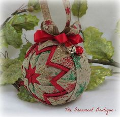 Quilted Christmas Ornament rustic ornament plaid ornament