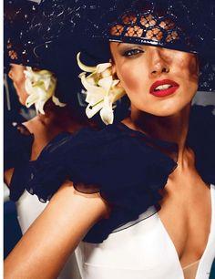 Karmen Pedaru in 'High Glam' by Alexi Lubomirski for Vogue Germany, June 2013.